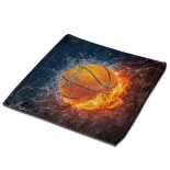 Ice And Fire Basketball Classic Cloth Face Towels Mini Squares Wash Hand Towel school,30cm x 30cm,Superfine Fiber.