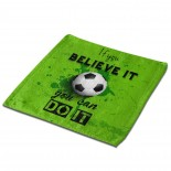 If You Believe It You Can Do It Classic Cloth Face Towels Mini Squares Wash Hand Towel beach,30cm x 30cm,Superfine Fiber.