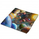 Planets In Space Classic Cloth Face Towels Mini Squares Wash Hand Towel gym,30cm x 30cm,Superfine Fiber.
