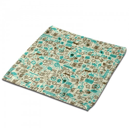 Psychic Collage Abstract Classic Cloth Face Towels Mini Squares Wash Hand Towel hotel,30cm x 30cm,Superfine Fiber.