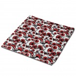 Scary Fantasy Red Eyes Pattern Classic Cloth Face Towels Mini Squares Wash Hand Towel car,30cm x 30cm,Superfine Fiber.